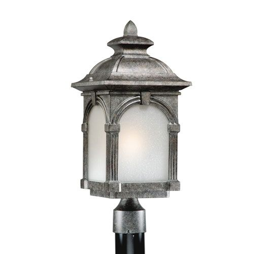 Outdoor Hanging Porch Lights Menards: Essex Lava Stone Energy Star 9 Inch Outdoor Post Light