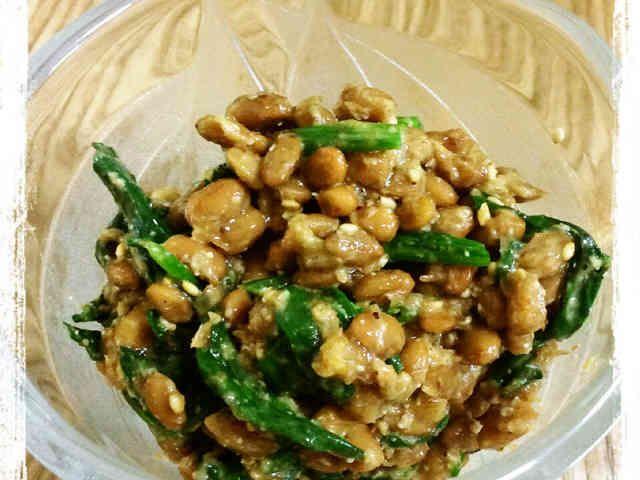 副菜の定番☆ほうれん草と納豆のおかか和えの画像