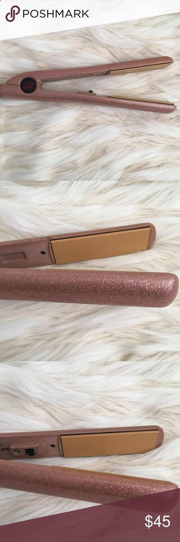 Ulta Chi Hair Straightener Sparkly pink Chi hair straightener! Works great, in good condition, no scratches on the plates but a little wearing on the inside edges. Got a Karmin so selling this beauty to a good home! Chi Other