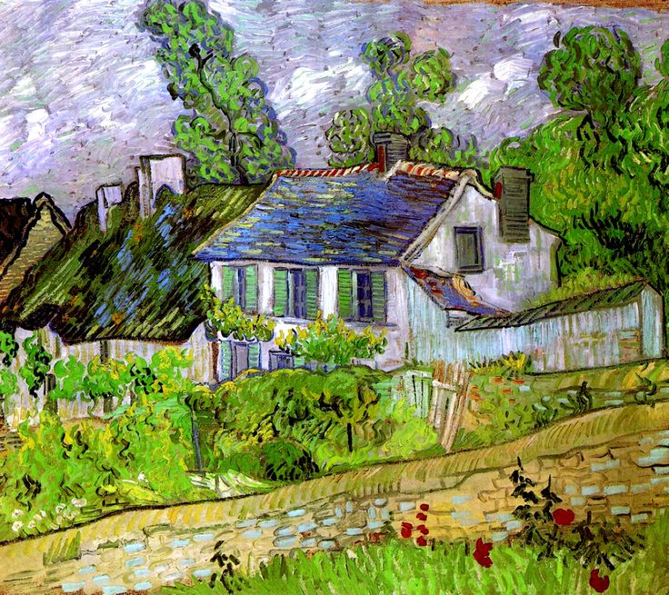 Vincent Van Gogh a Group of Cottages | Houses in Auvers