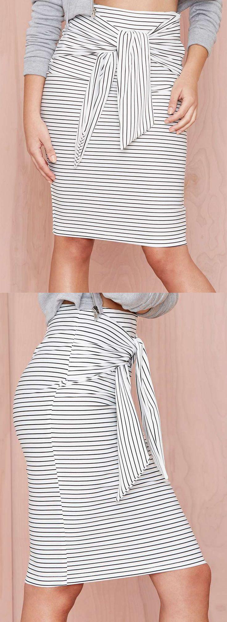 Striped skirt//