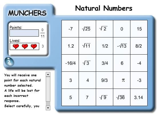 Conquer the number systems once and for all by using this drill!  The student identifies natural numbers, whole numbers, integers, rational numbers, and irrational numbers.  Practice makes perfect!