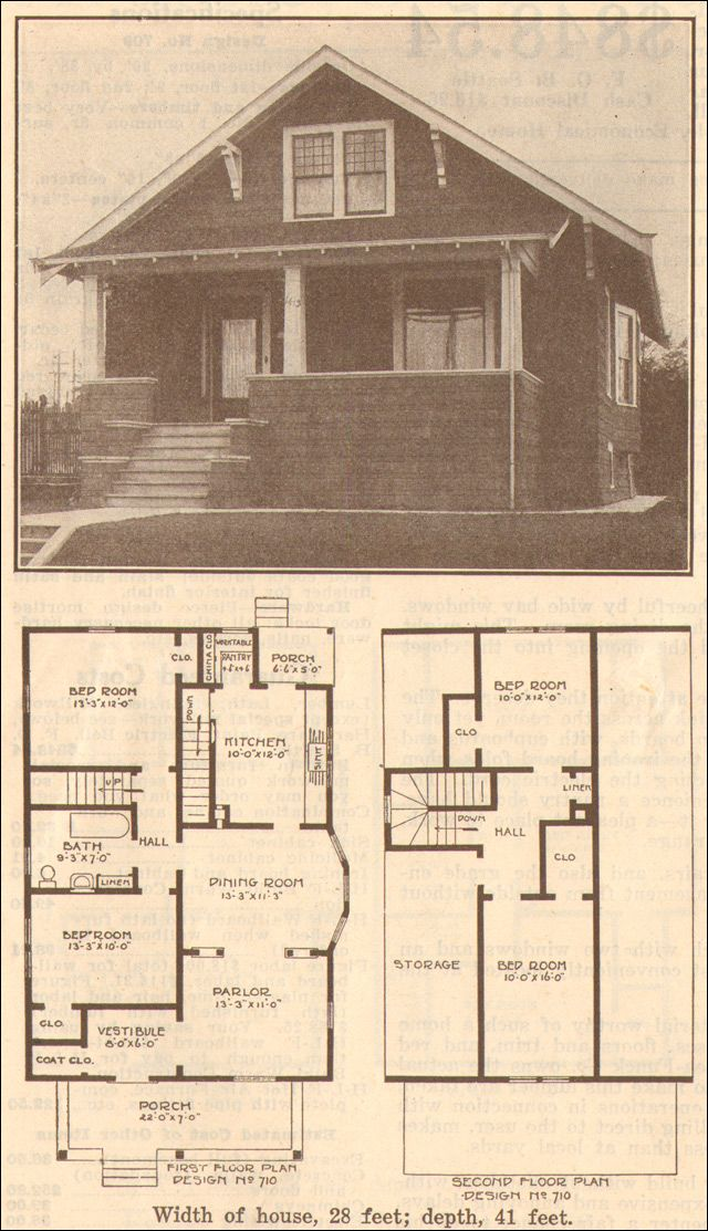 1915 hewitt lea funck house plans no 710 architecture for Classic cottage house plans