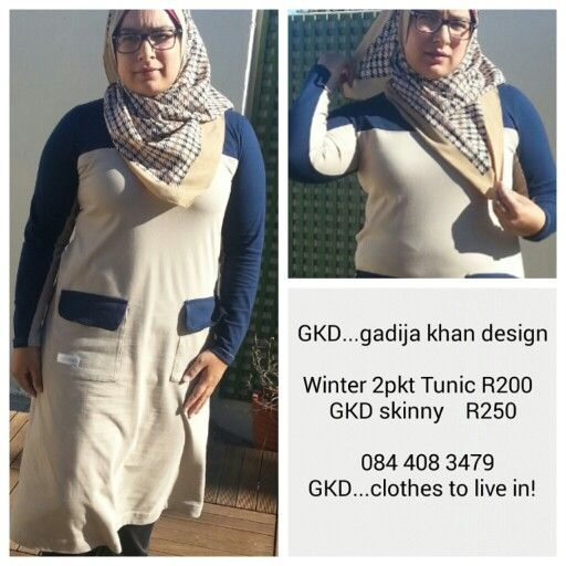 GKD...gadijakhan design Clothes to live in! Long winter tunic ideal for hijab muslimah