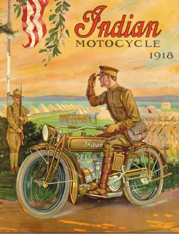 Vintage Indian Motorcycle Ad