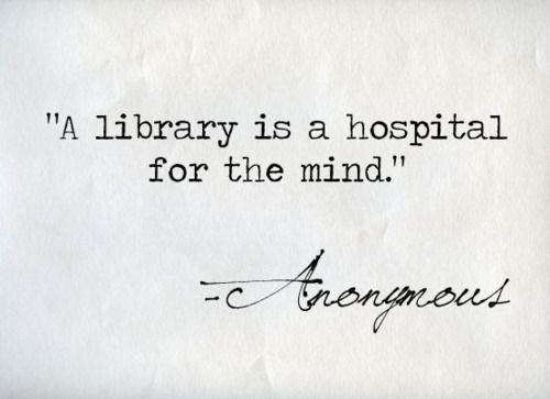 knihovna - je nemocnice pro mysl