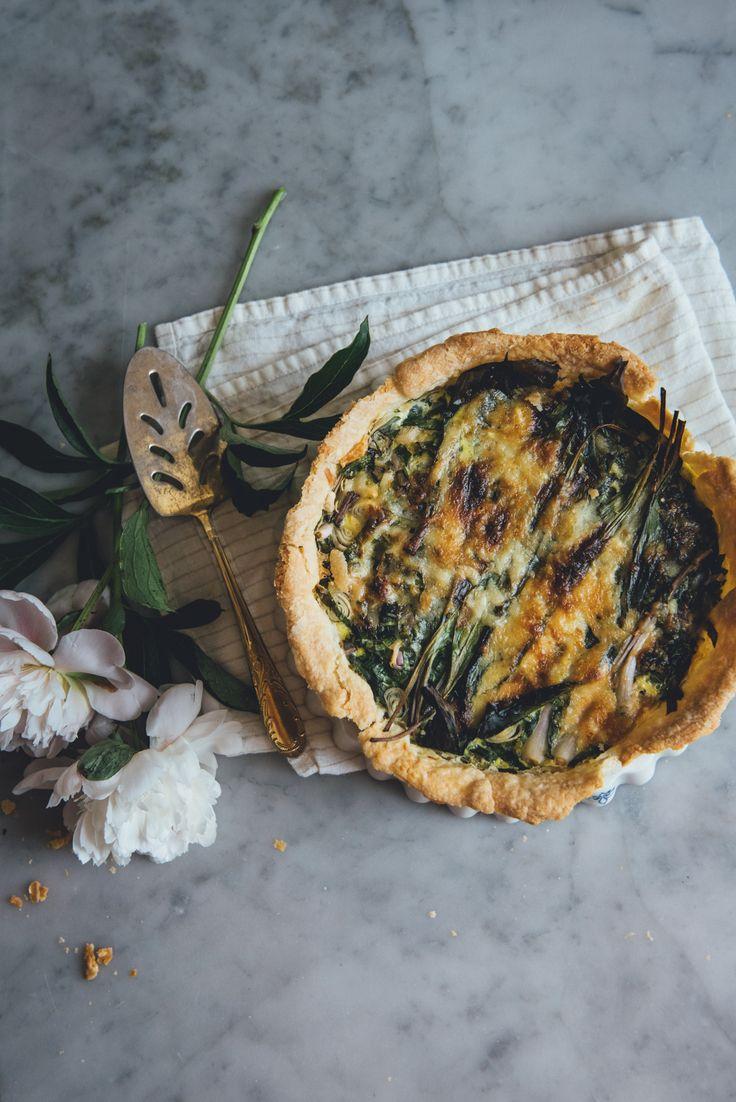 Leek, Asparagus,Ramp Quiche