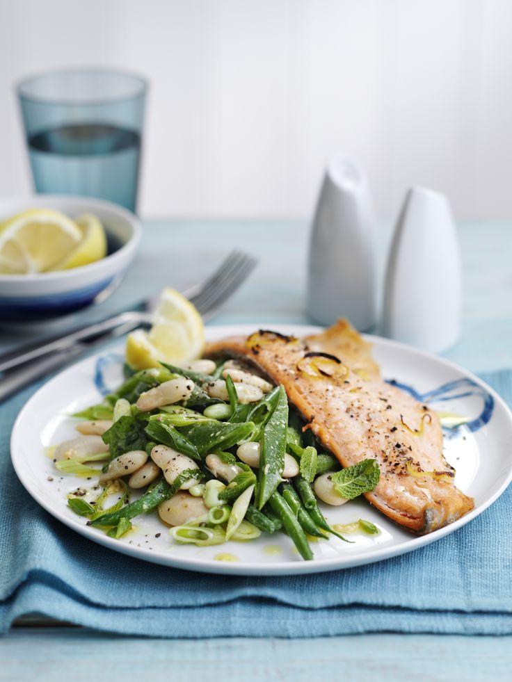 Lemon trout with a warm butterbean salad...delicious!