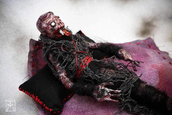 Horror Oddity Freak Art Doll Halloween Maggot by TalissaMehringer