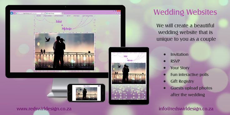 Wedding websites that share the build up to your wedding with friends and family. Designed to compliment your wedding and suit your personalities.