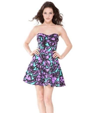 SPLASH FLORAL FIT N FLARE DRESS - Betsey Johnson - StyleSays