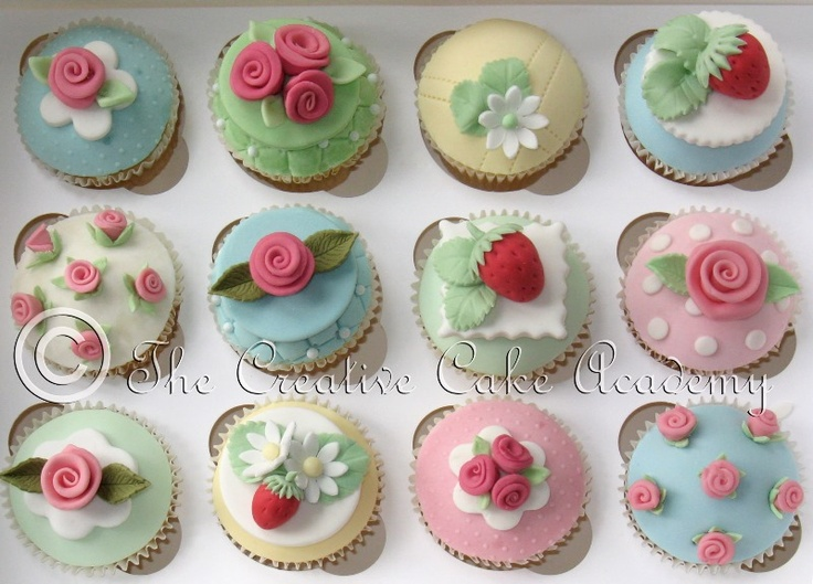 Cath Kidston cupcakes at Farncombe