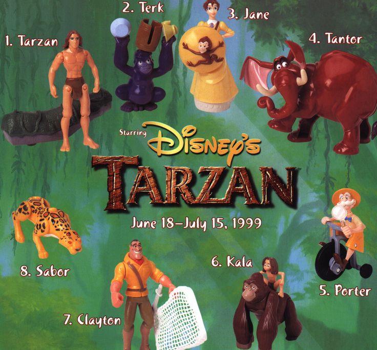 1999 Tarzan set | 90s Happy Meal Toys | Pinterest | Tarzan ... Тарзан 1999