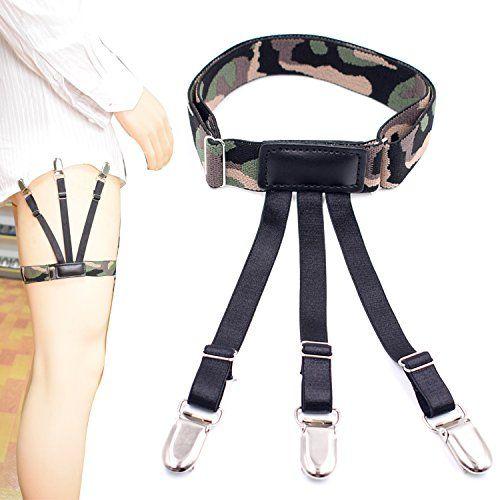 1Pair Men Garter Belt Leg Suspenders Shirt Braces Elastic Strap Non-slip Hot