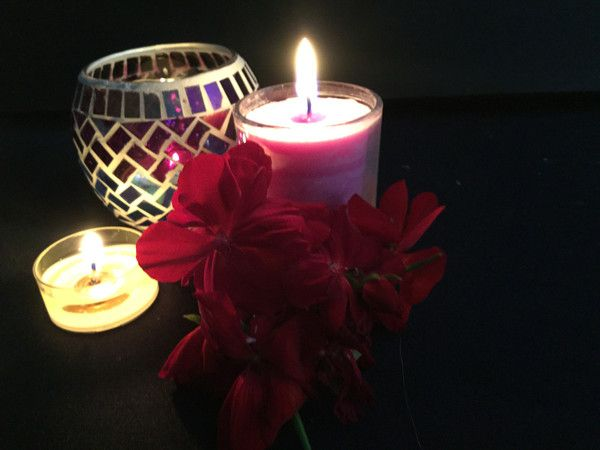 Votive look at the beautiful flame