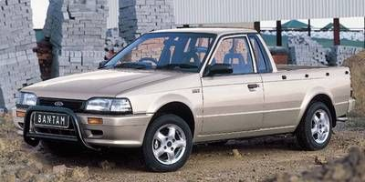 Ford Bantam 1993-2002. Based on a Mazda 323 sixth generation-based Ford Laser front end and was also branded Mazda Rustler. The second model had a 1.6-liter inline-four engine.