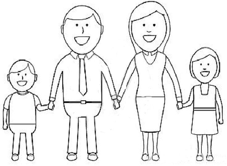 IMAGINI de colorat cu Familia pentru saptamana Eu si familia mea | Fise de lucru - gradinita