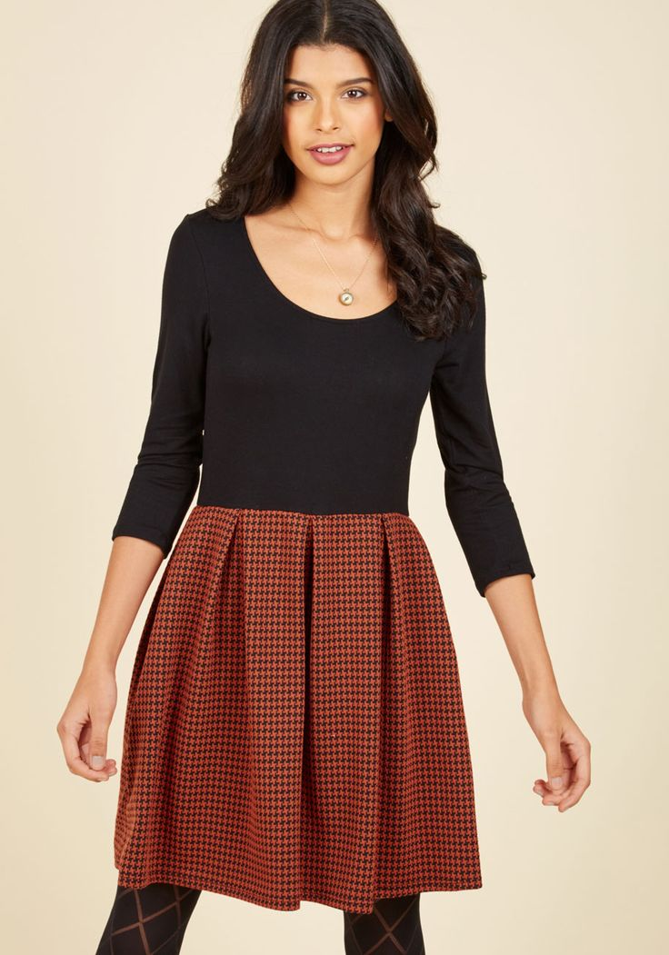 Bistro Tasting Twofer Dress in Rust. Dressed delightfully in this chic twofer dress, you get acquainted with the new menu at your favorite brunch haunt! #red #modcloth
