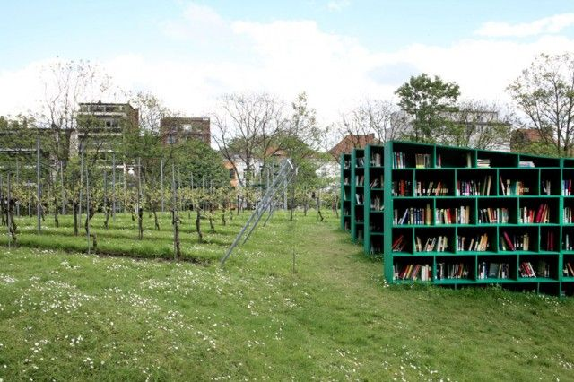 Open Air Library In A Belgian Vineyard By Massimo Bartolini