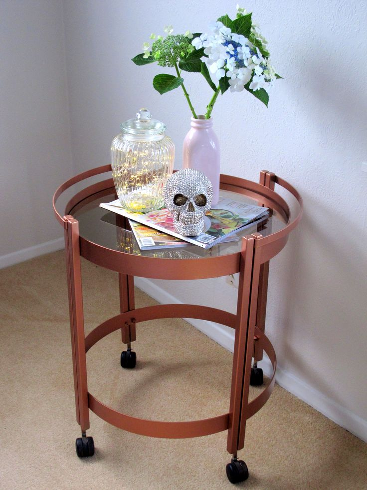 Vintage cocktail trolley given a copper make over