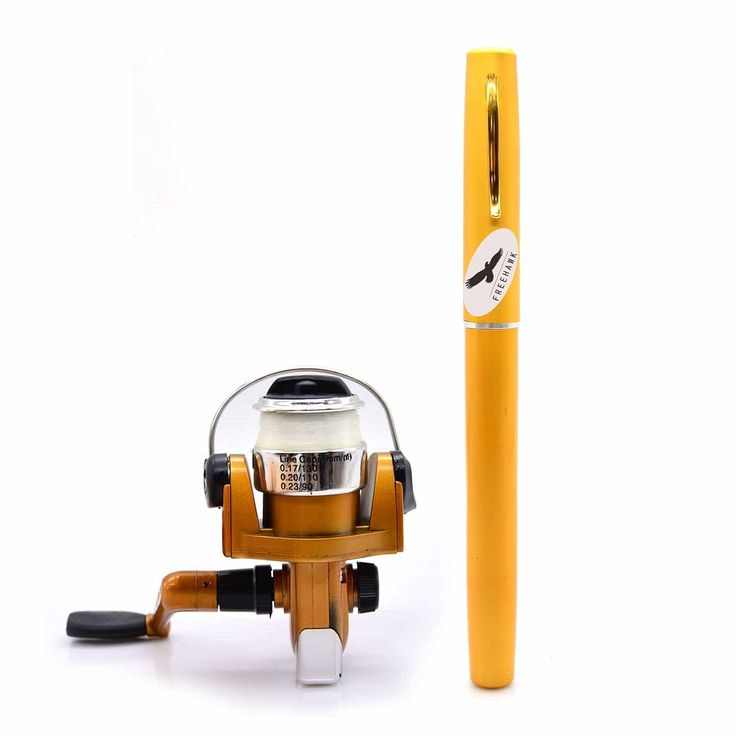 Freehawk® Portable Telescopic Mini Pen Fishing Rod Mini Aluminum Pocket Pen Carbon Fiber Fishing Pole Travel Fishing Rod Pocket Sea Rods ISO Fishing Rods   2000 Spinning Fishing Reel (Gold) >>> You can find out more details at the link of the image.