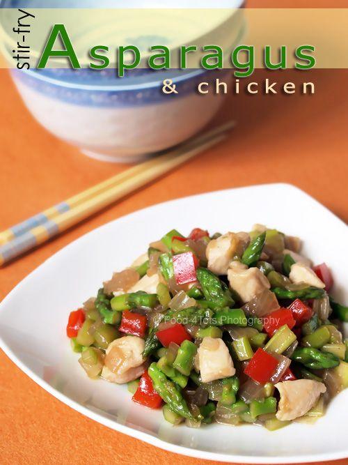 asparagus, chicken, stir-fry | Recipes to explore | Pinterest