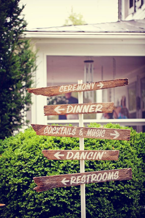 Rustic Wedding Signs - made from old barn wood