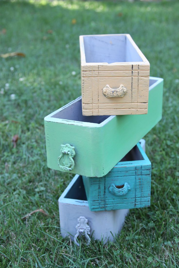 Sewing machine drawers for storage boxes.