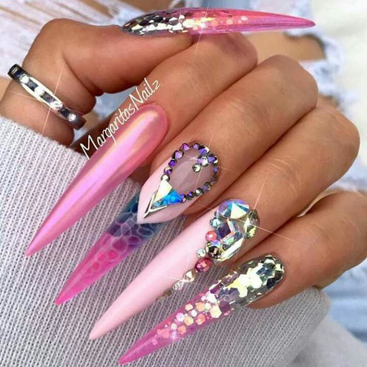 Long Nail Art: 360 Best Extremely Long Nails Images On Pinterest