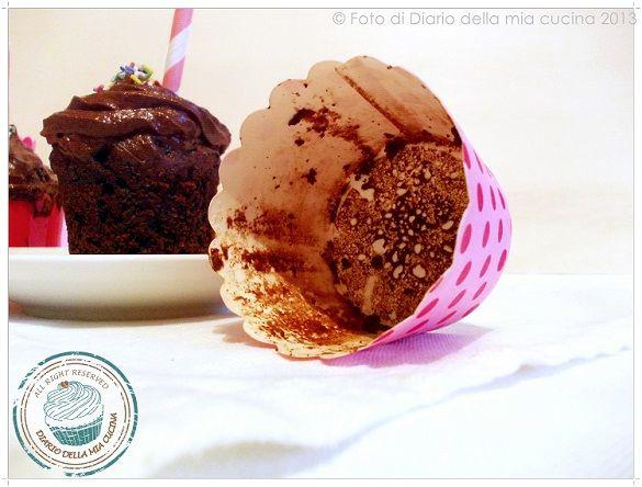 #Cupcake al cioccolato con yogurt greco  #recipes #chocolate