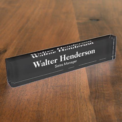 Office Management Desk Plaques Desk Name Plate - corporate business cyo personalize customize