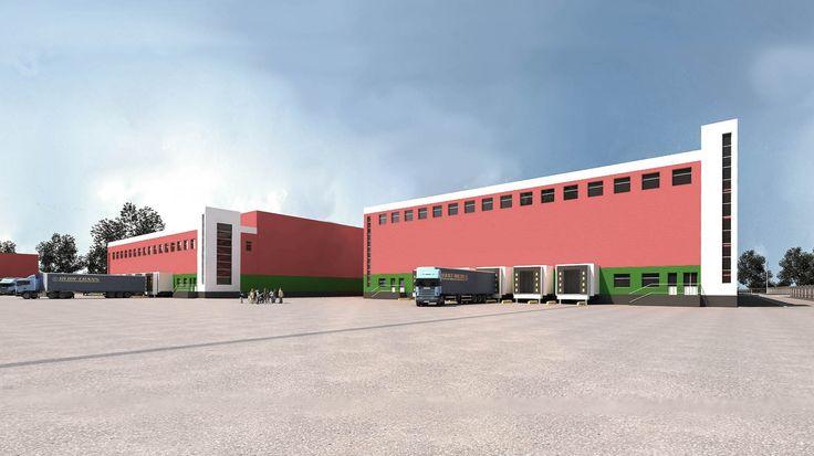 Комплексное проектирование холодильно - складского комплекса  для временного хранения молочных продуктов. Калужская обл. г. Гагарин