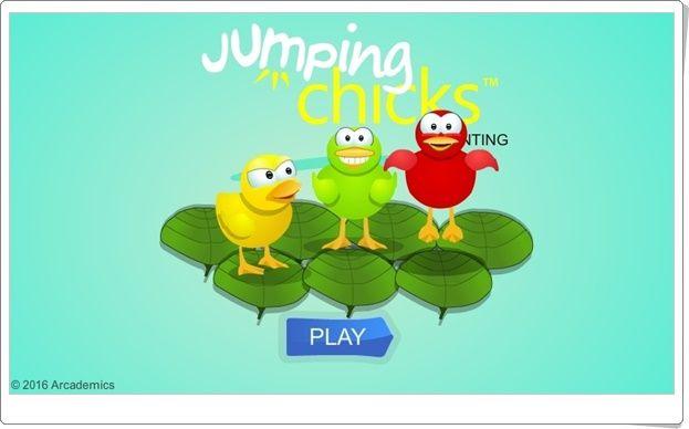 """""""Jumping chicks"""" (Números del 1 al 9)"""