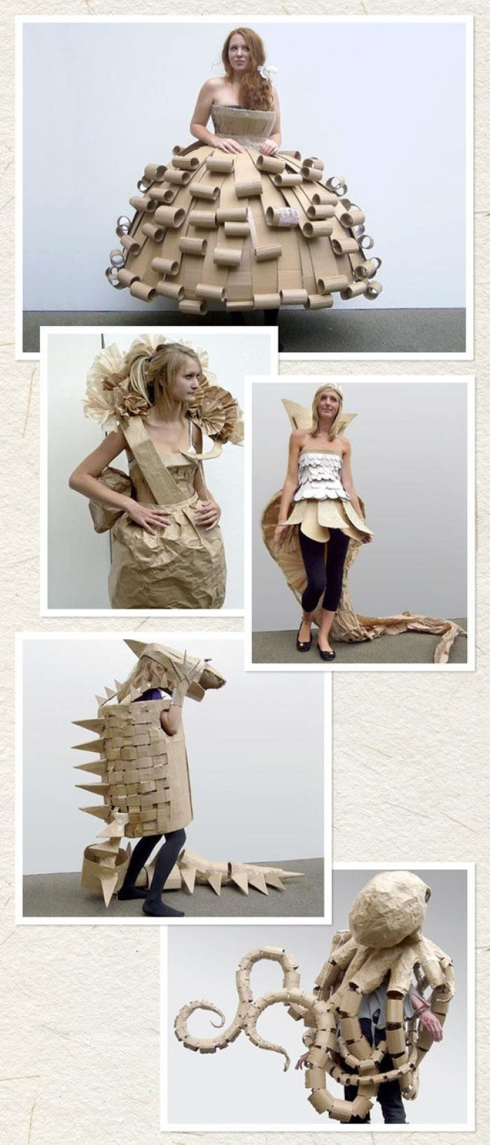 Cardboard costumes.