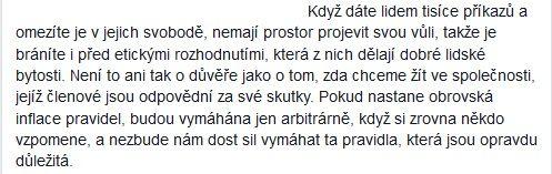 Ústavní soudkyně Kateřina Šimáčková v rozhovoru pro deník Právo dne 14. 4. 2016