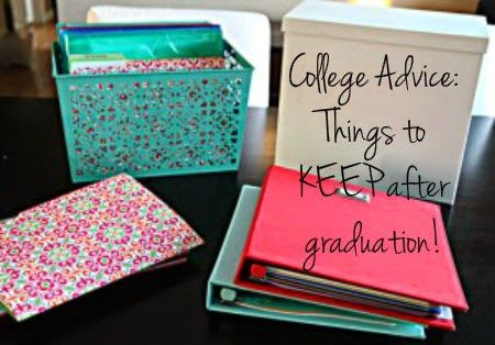 Before you trash things from your classes check out this 'What to keep from College guide""