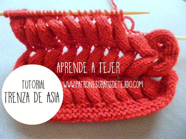 CURSO ONLINE DOS AGUJAS: Aprende a tejer Trenza de Asia | Crochet y Dos agujas
