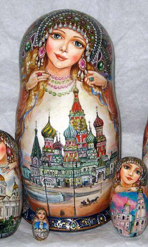 nesting dolls, russian