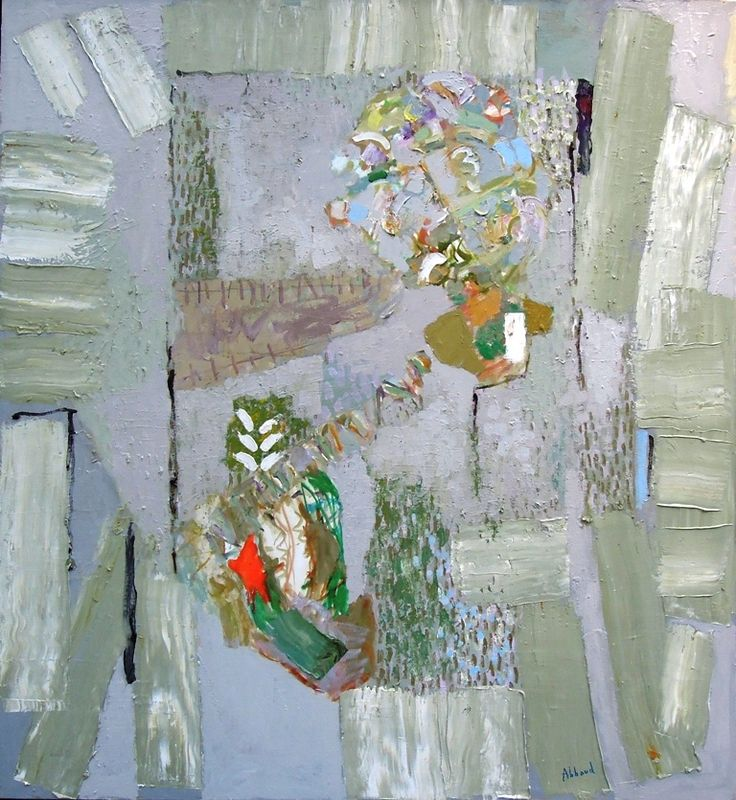 """Painting Shafic Abboud my clients purchased for their Master Bedroom. """"The Flowers of Spring"""" Shafic Abboud, 1998 Oil on Canvas - 47"""" x 43"""" purchased from Galerie Claude Lemand, Paris Abboud is a Lebanese/French artist (1926-2004) widely known and collected in Europe (especially France) and the Arab world"""