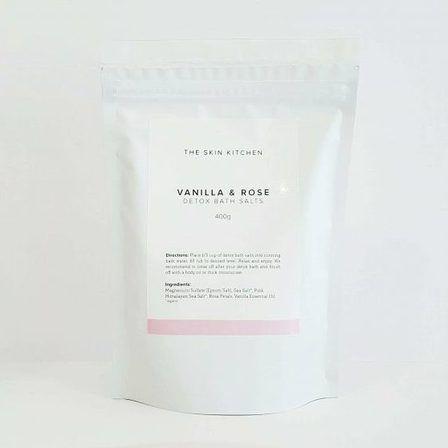 The Skin Kitchen Vanilla and Rose Detox Bath Salts