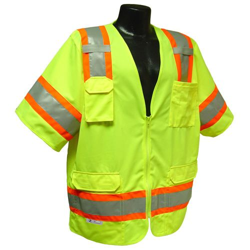 Radians Hi Vis Green Surveyor Vest Two Tone Class 3 SV63G