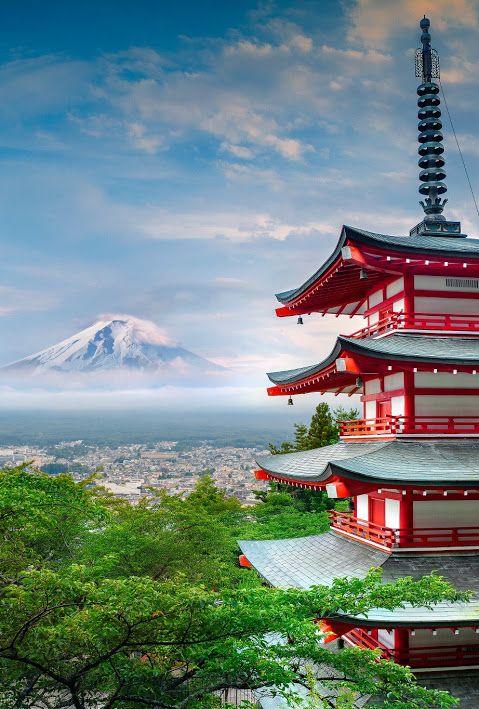 Mt Fuji #Japan, Chureito Pagoda. Photo by Peter Stewart.