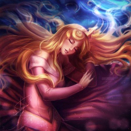* - girl, art, digital, sleepingbeauty