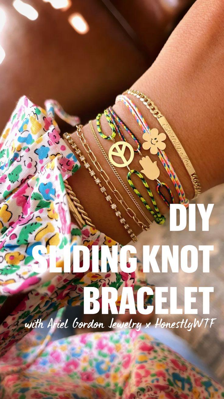 Diy Projects For Adults, Macrame Bracelet Diy, Knots, Diy Arts And Crafts, Diy Accessories, Diy Kits, Yarn Crafts, Diy Beauty, Making Ideas