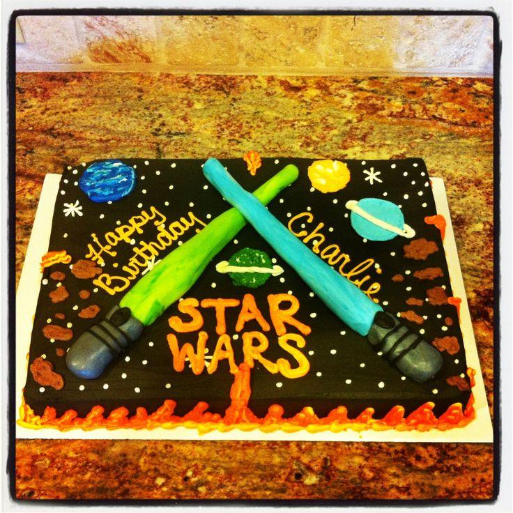 Star wars sheet cake