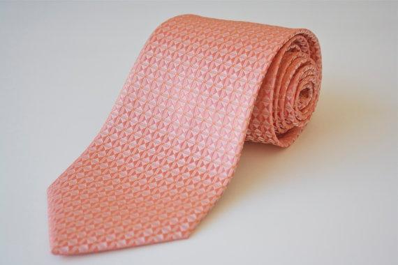 Mens Tie Peach Necktie by NewTieClub on Etsy