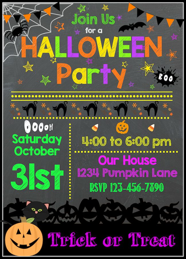 See more ideas about printable halloween party invitations, free printable halloween party invitations, halloween party invitations. Free Halloween Printables Halloween Party Invitation Template Free Halloween Party Invitations Halloween Birthday Invitations