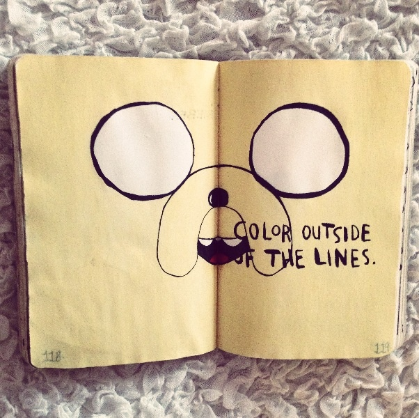 Wreck This Journal Inspiration - Adventure Time