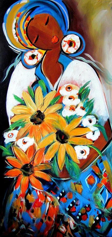 ronnie biccard art | ... Ronnie Biccard - Mama With Flowers Fine Art Prints and Posters for