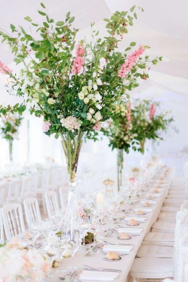 Addobbi floreali e decorazioni per il ricevimento di nozze - Fiori di campo
